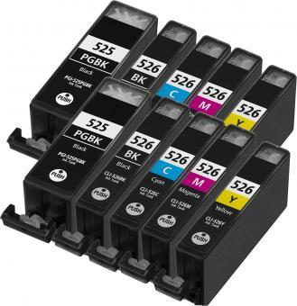 10x Alternativ Druckerpatronen mit Chip Canon PGI 525bk CLI 526