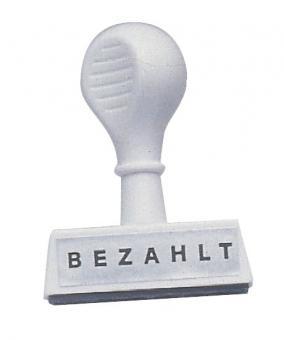 Wedo Stempel Text Bezahlt - Abdruck 45 mm