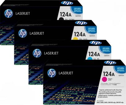 Sparset Original HP 124A (Q6000A+Q6001A+Q6002A+Q6003A)