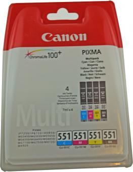 4x Original Canon Druckerpatronen CLI-551 im Set