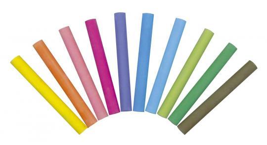Tafelkreide Robercolor - rund, 10 Farben sortiert, 100 Stück