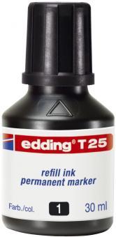 Edding T 25 Nachfülltusche für Permanentmarker, 30 ml, schwarz