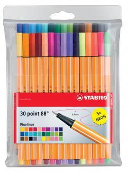 Stabilo Fineliner point 88® Etui, mit 30 Stiften