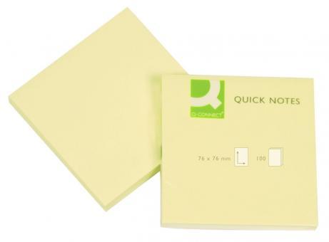 Q-Connect Haftnotizen - gelb - 76 x 76 mm