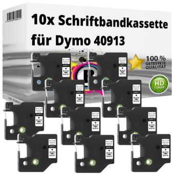 10x Alternativ Dymo D1 Etiketten Label Cassette 40913 9mm x 7m