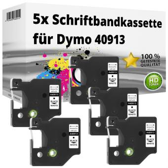 5x Alternativ Dymo D1 Etiketten Label Cassette 40913 9mm x 7m