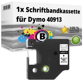 10x DRUCKER SCHRIFTBAND KASSETTE 19mm SCHWARZ-WEIß für DYMO D1 S0720830 45803
