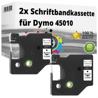 2x Alternativ Dymo D1 Etiketten Label Cassette 45010 12mm x 7m