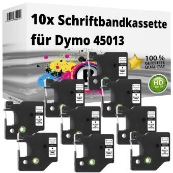 10x Alternativ Dymo D1 Etiketten Label Cassette 45013 12mm x 7m