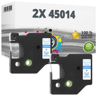 2x Alternativ Dymo D1 Etiketten Label Cassette 45014 12mm x 7m