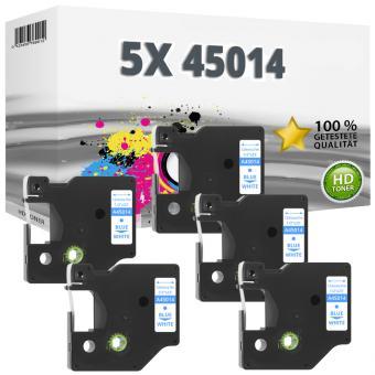 5x Alternativ Dymo D1 Etiketten Label Cassette 45014 12mm x 7m