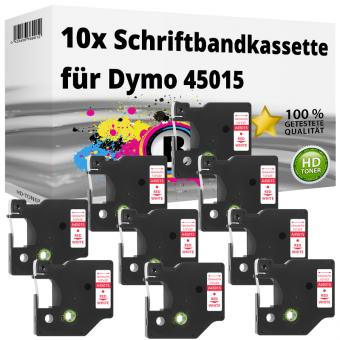 10x Alternativ Dymo D1 Etiketten Label Cassette 45015 12mm x 7m