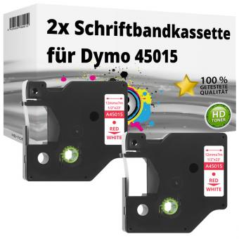 2x Alternativ Dymo D1 Etiketten Label Cassette 45015 12mm x 7m