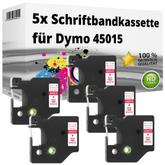 5x Alternativ Dymo D1 Etiketten Label Cassette 45015 12mm x 7m