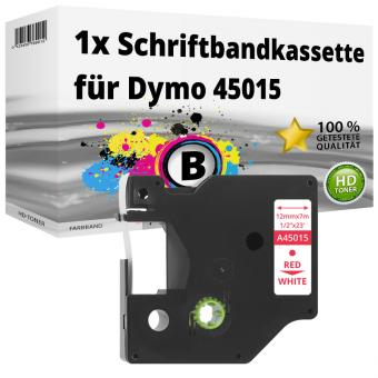 Alternativ Dymo D1 Etiketten Label Cassette 45015 12mm x 7m