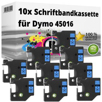 10x Alternativ Dymo D1 Etiketten Label Cassette 45016 12mm x 7m
