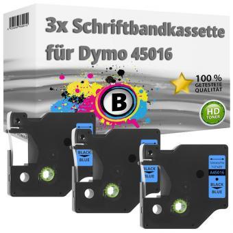 3x Alternativ Dymo D1 Etiketten Label Cassette 45016 12 mm x 7 m
