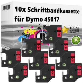 10x Alternativ Dymo D1 Etiketten Label Cassette 45017 12mm x 7m