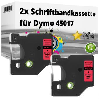 2x Alternativ Dymo D1 Etiketten Label Cassette 45017 12mm x 7m