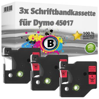 3x Alternativ Dymo D1 Etiketten Label Cassette 45017 12 mm x 7 m
