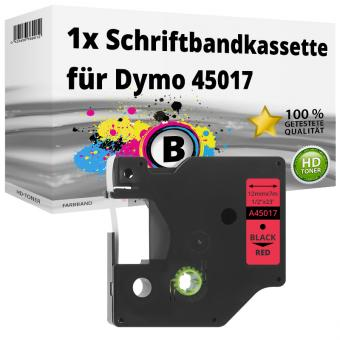 Alternativ Dymo D1 Etiketten Label Cassette 45017 12mm x 7m
