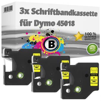 3x Alternativ Dymo D1 Etiketten Label Cassette 45018 12 mm x 7 m