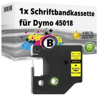 Alternativ Dymo D1 Etiketten Label Cassette 45018 12mm x 7m