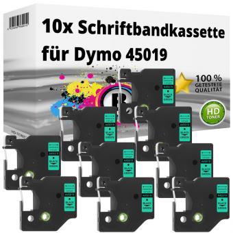 10x Alternativ Dymo D1 Etiketten Label Cassette 45019 12mm x 7m