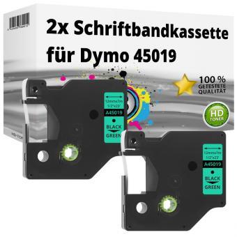 2x Alternativ Dymo D1 Etiketten Label Cassette 45019 12mm x 7m