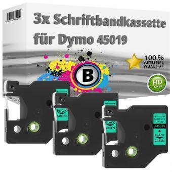 3x Alternativ Dymo D1 Etiketten Label Cassette 45019 12 mm x 7 m