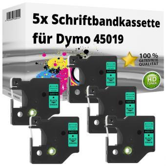 5x Alternativ Dymo D1 Etiketten Label Cassette 45019 12mm x 7m