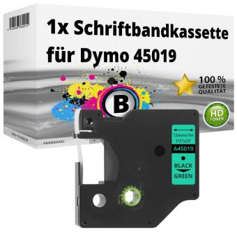 Alternativ Dymo D1 Etiketten Label Cassette 45019 12mm x 7m