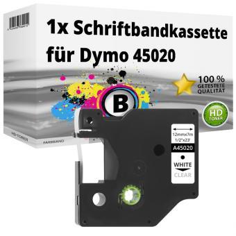 Alternativ Dymo D1 Etiketten Label Cassette 45020 12mm x 7m