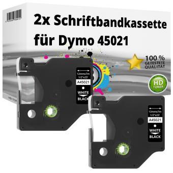 2x Alternativ Dymo D1 Etiketten Label Cassette 45021 12mm x 7m