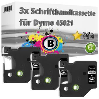 3x Alternativ Dymo D1 Etiketten Label Cassette 45021 12 mm x 7 m