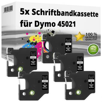 5x Alternativ Dymo D1 Etiketten Label Cassette 45021 12mm x 7m
