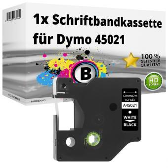 Alternativ Dymo D1 Etiketten Label Cassette 45021 12mm x 7m