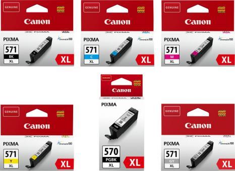 6x Original Canon Patronen im Set PGI-570XL+CLI-571XL