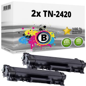 2x Alternativ Brother Toner TN-2420 XXL Schwarz