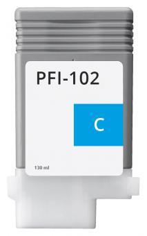Alternativ Canon Tintenpatrone PFI-102C / 0896B001 Cyan