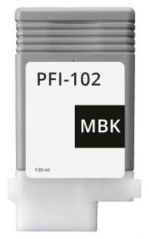 Alternativ Canon Tintenpatrone PFI-102MBK / 0894B001 Mattschwarz