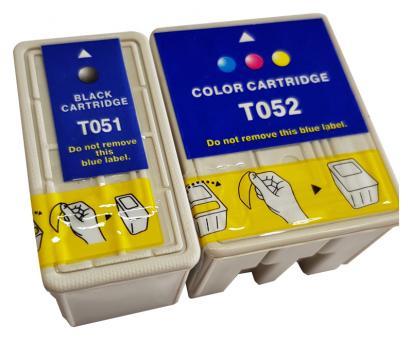 Alternativ Epson Patronen T0501 T0520 Set Schwarz + Color