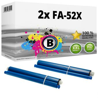 2x Alternativ Panasonic Thermo-Transfer-Rolle KX-FA52X