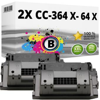 Sparset 2x Alternativ HP Toner CC364X / 64X Schwarz