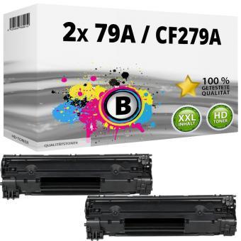 Alternativ HP Toner  79A / CF279A Schwarz Doppelpack