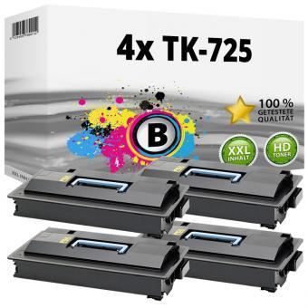 Alternativ Kyocera Set 4x Toner TK-725 / 1T02KR0NL0 Schwarz