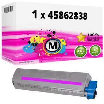 Alternativ OKI Toner 45862838 Magenta