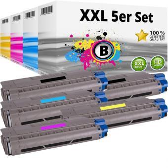 Set 5x Alternativ OKI Toner 46507616 46507615 46507614 46507613