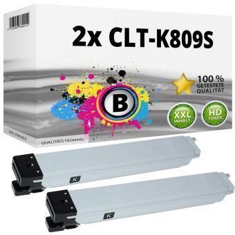 2x Alternativ Samsung Toner CLT-K809S Schwarz Set