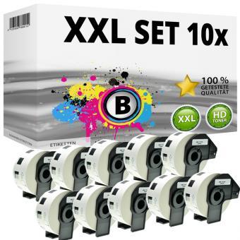 Set 10x Alternativ Brother runde Etiketten DK-11219 Label
